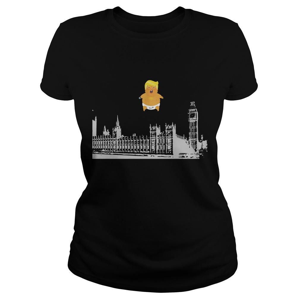 Baby Trump Blimp Over London Ladies