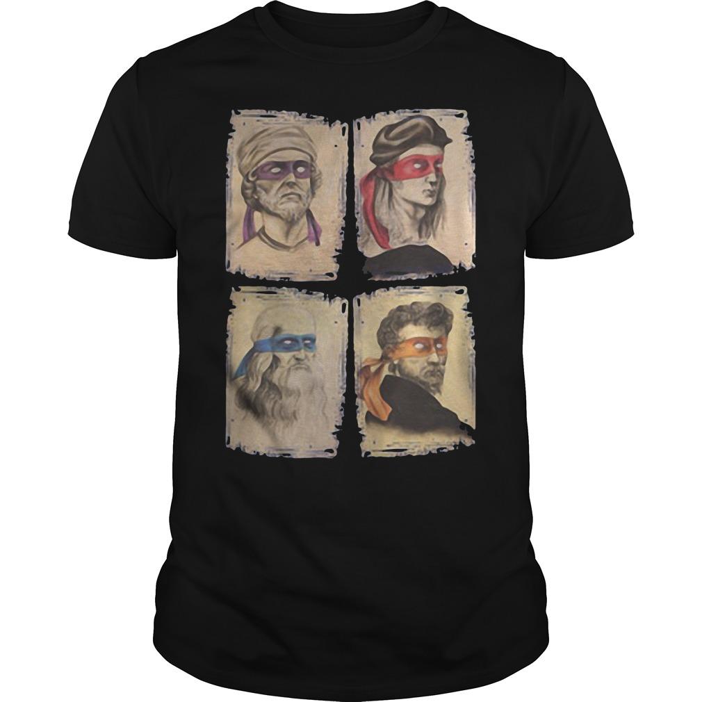 Michelangelo, Leonardo, Donatello, Raphael T Shirt