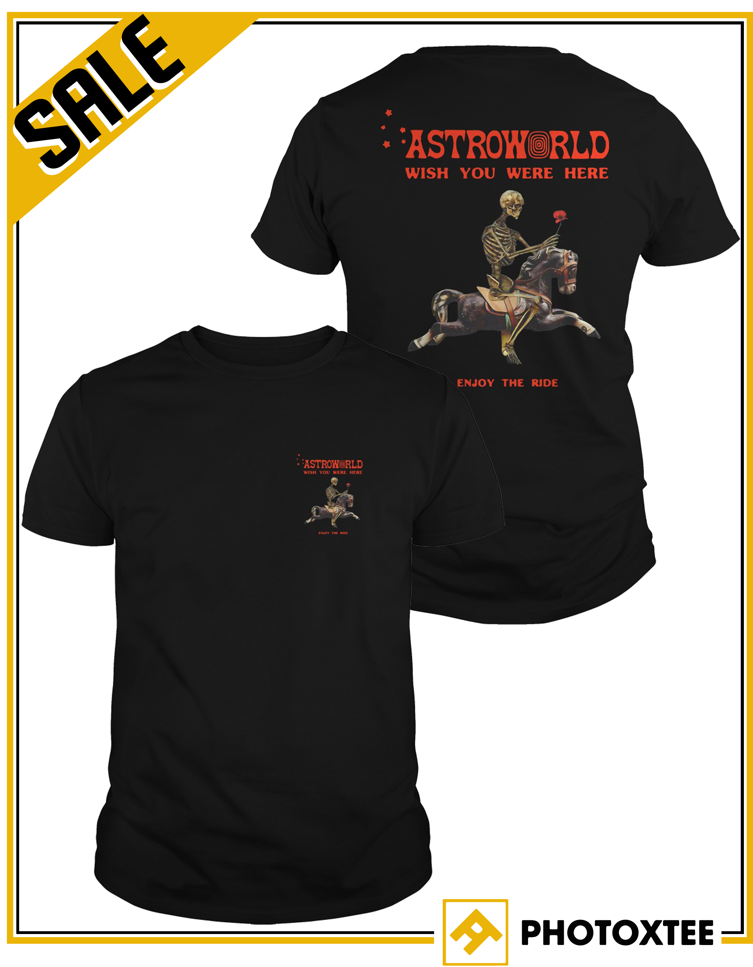 ac581943a577 Astroworld Season Pass Shirt – Astroworld Wish You Were Here Enjoy The Ride  Shirt