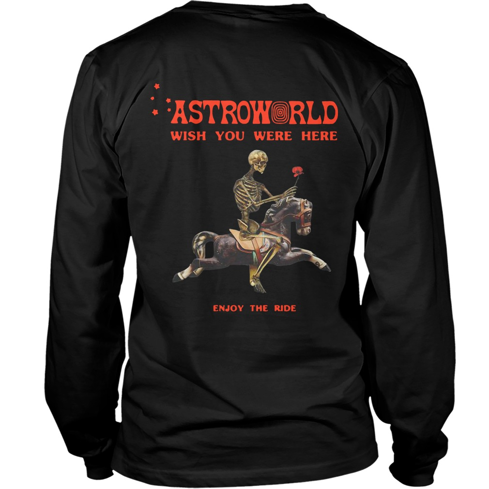 cbabe88384b2 Astroworld Season Pass Back Longsleeve Tee - Astroworld Wish You Were Here  Enjoy The Ride Back