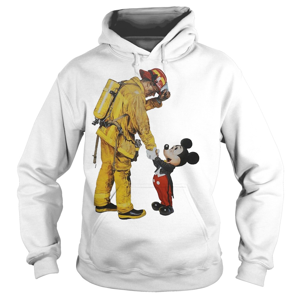 Firefighter With Mickey Mouse Hoodie
