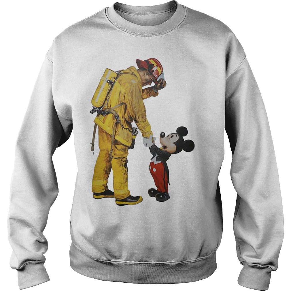 Firefighter With Mickey Mouse Sweater