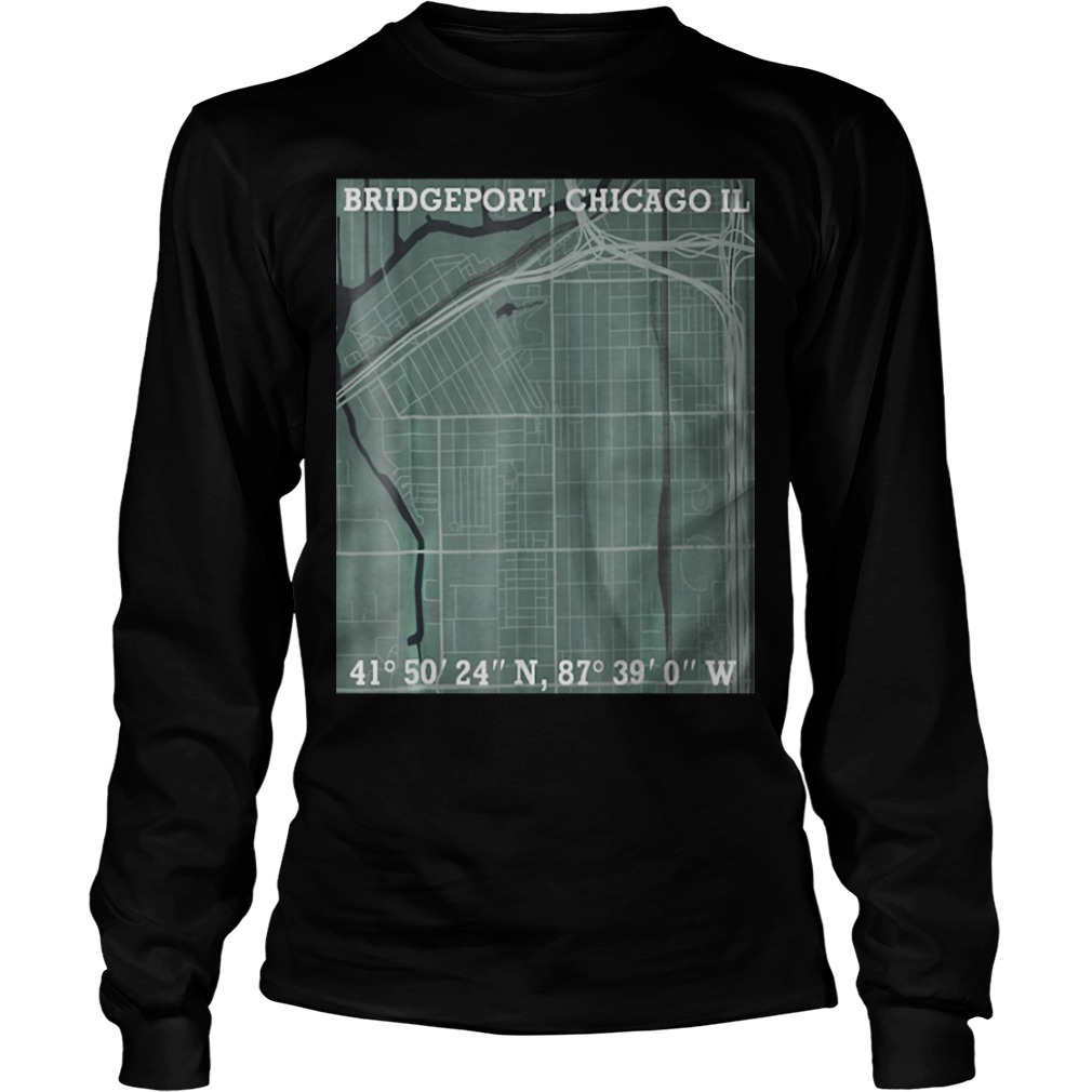 Hood Map Art Bridgeport Chicago Longsleeve Tee