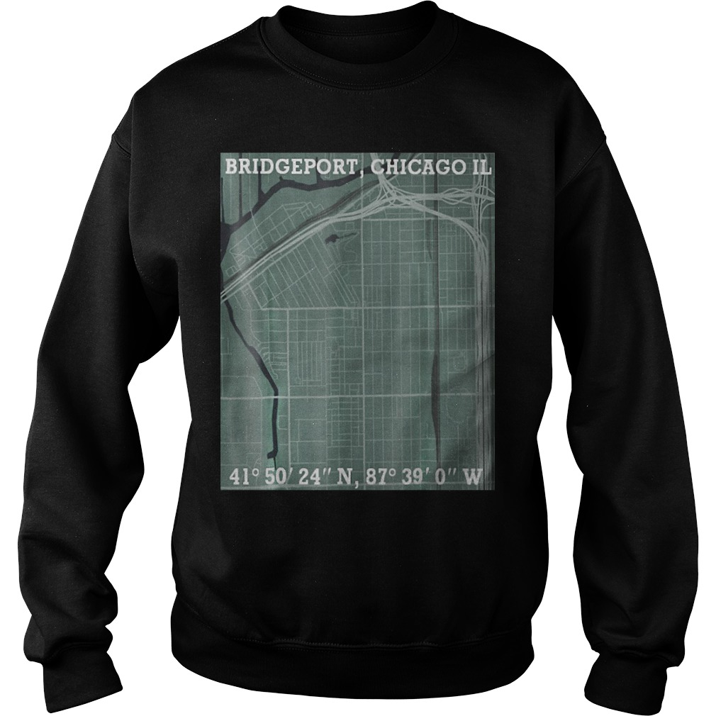 Hood Map Art Bridgeport Chicago Sweater
