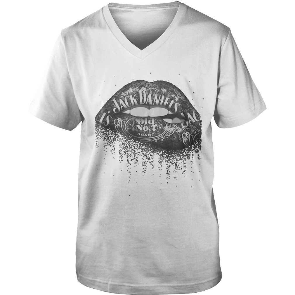 Jack Daniel's Whiskey Lips Guys V-Neck