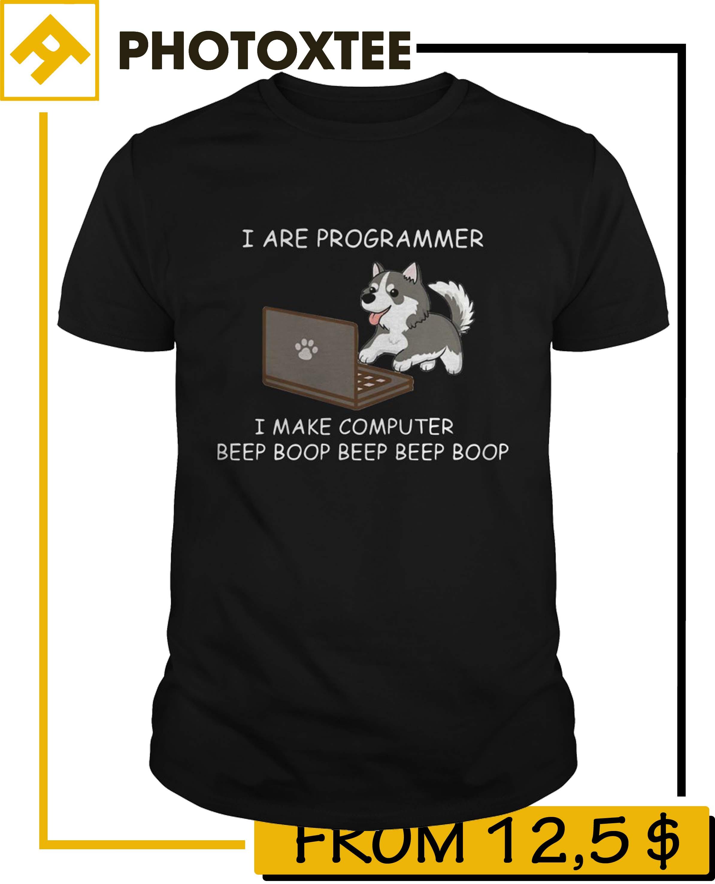 Husky Make Computer Beep Boop Shirt