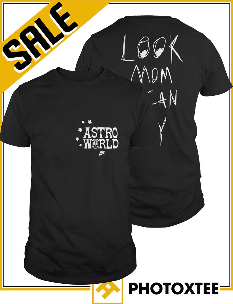 08afcbbb Nike Travis Scott Astroworld Look Mom I Can Fly Shirt