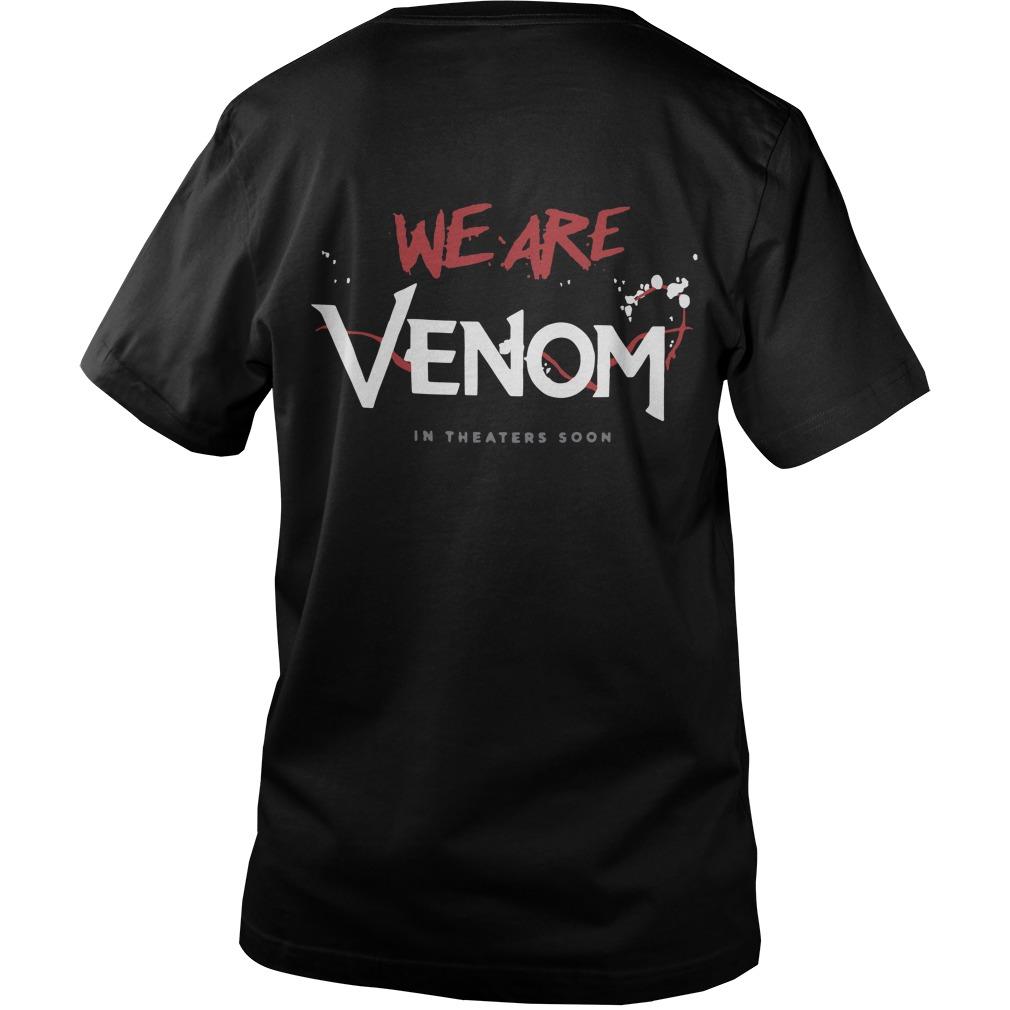 Tom Hardy Venom Movie T Shirt 2018 Back Guys V-Neck - Tom Hardy Venom We Are Venom Back Guys V-Neck