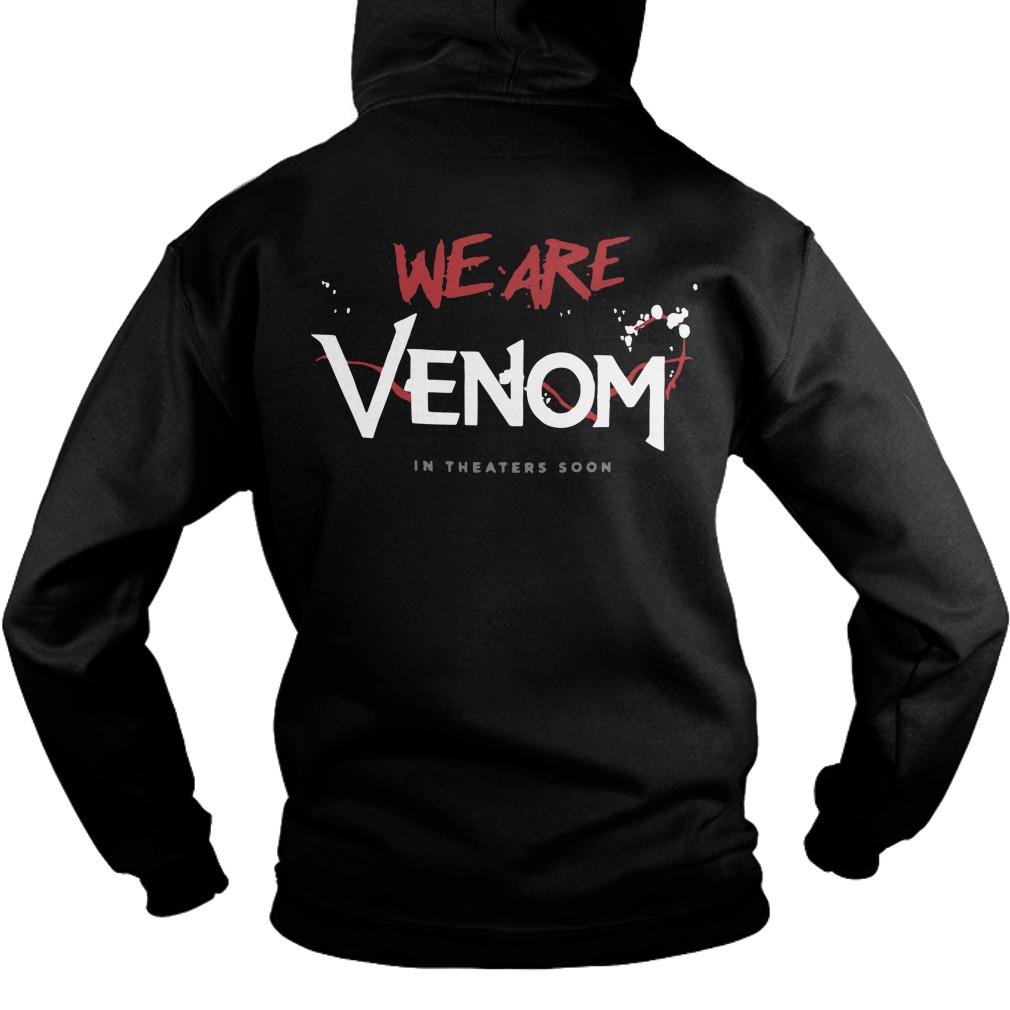 Tom Hardy Venom Movie T Shirt 2018 Back Hoodie - Tom Hardy Venom We Are Venom Back Hoodie
