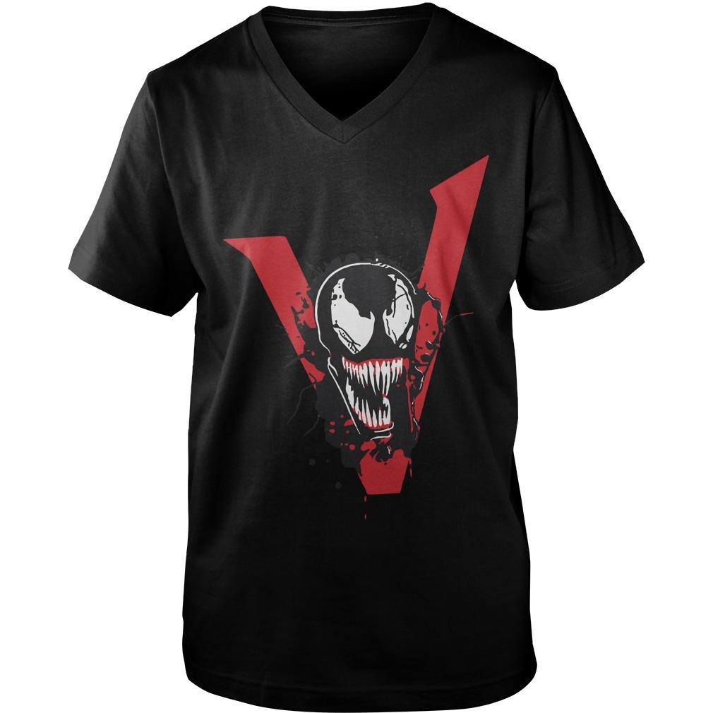 Tom Hardy Venom Movie T Shirt 2018 Guys V-Neck - Tom Hardy Venom We Are Venom Guys V-Neck