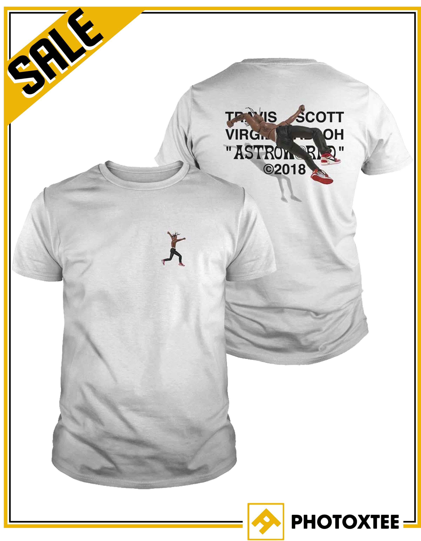 Travis Scott Virgil Abloh Astroworld 2018 Shirt Air Jordan Iv Cactus Jack