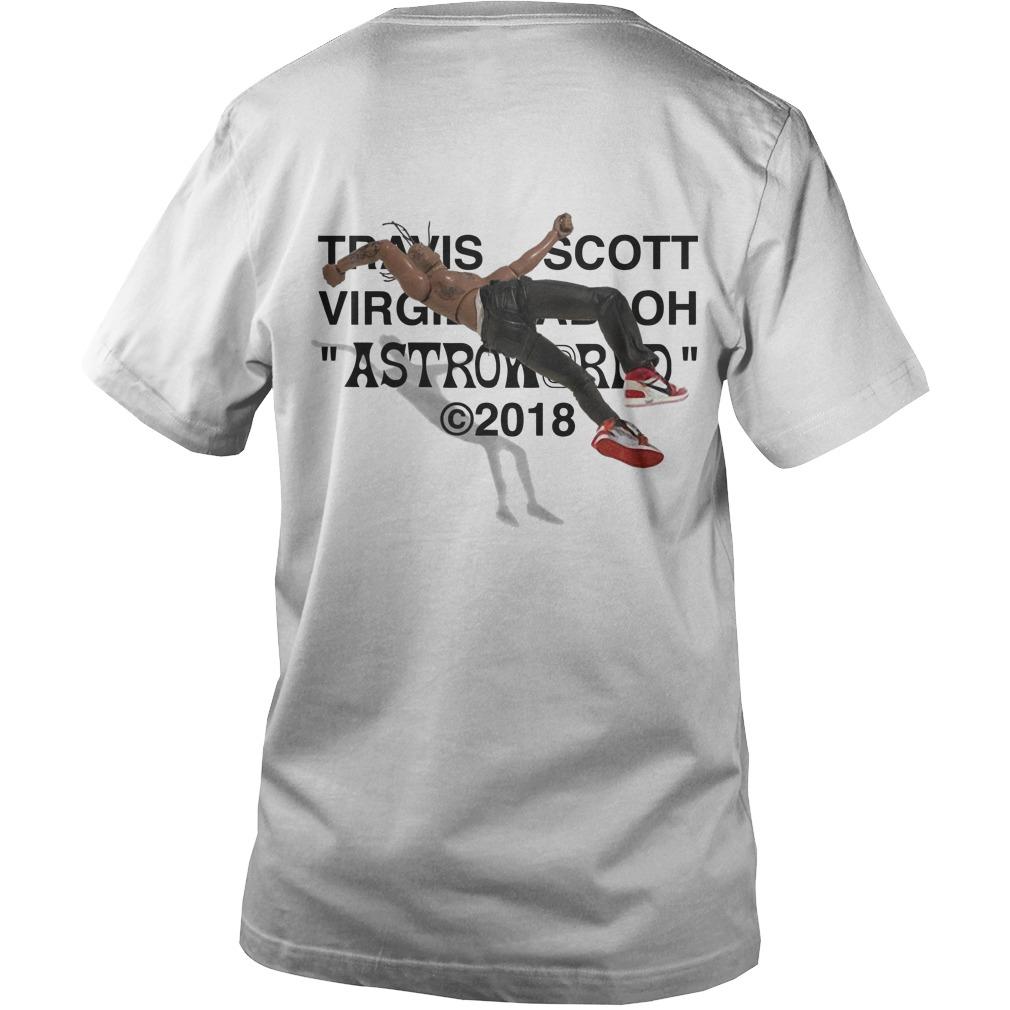 Travis Scott Virgil Abloh Astroworld 2018 Back Guys V-Neck Shirt Air Jordan Iv Cactus Jack
