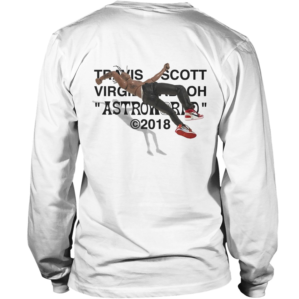 Travis Scott Virgil Abloh Astroworld 2018 Back Longsleeve Tee Shirt Air Jordan Iv Cactus Jack