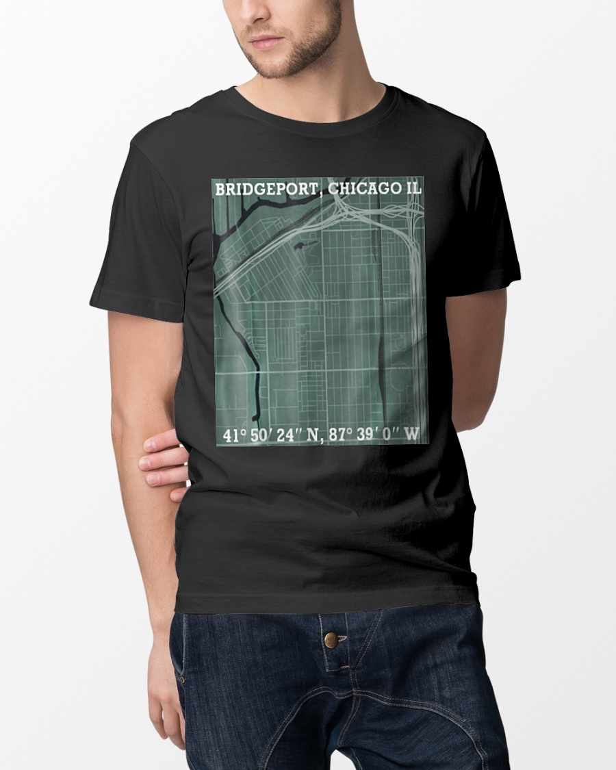 Hood Map Art Bridgeport Chicago T Shirt