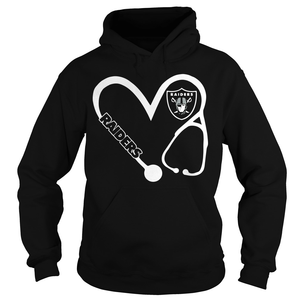 Heart 3/4 Nurse Oakland Raiders Hoodie