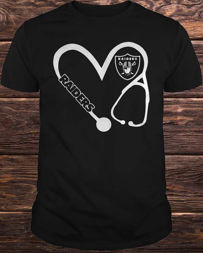 Heart 3/4 Nurse Oakland Raiders Shirt