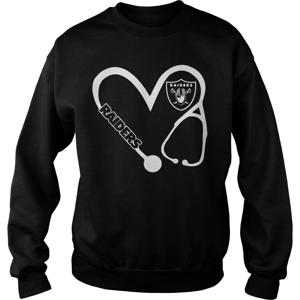 Heart 3/4 Nurse Oakland Raiders Sweater