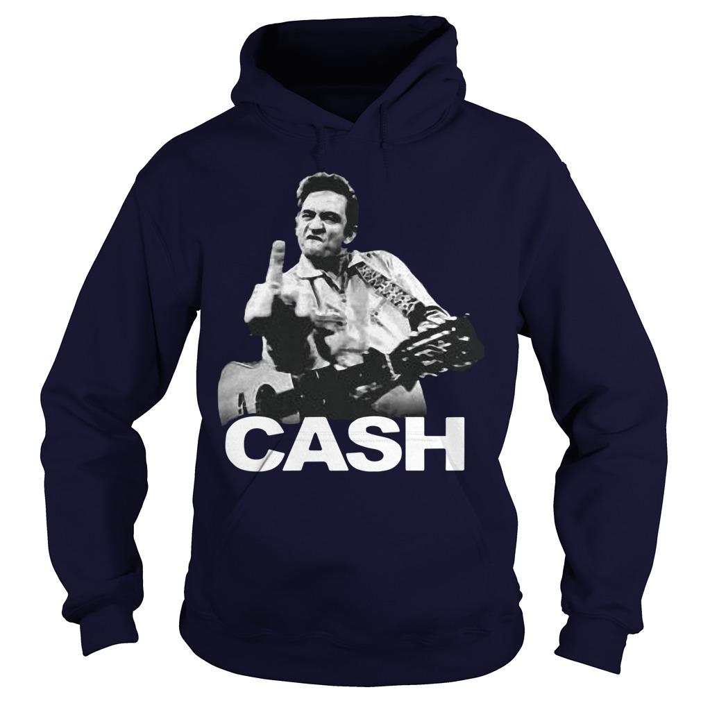Johnny Cash Middle Finger Guitar Hoodie