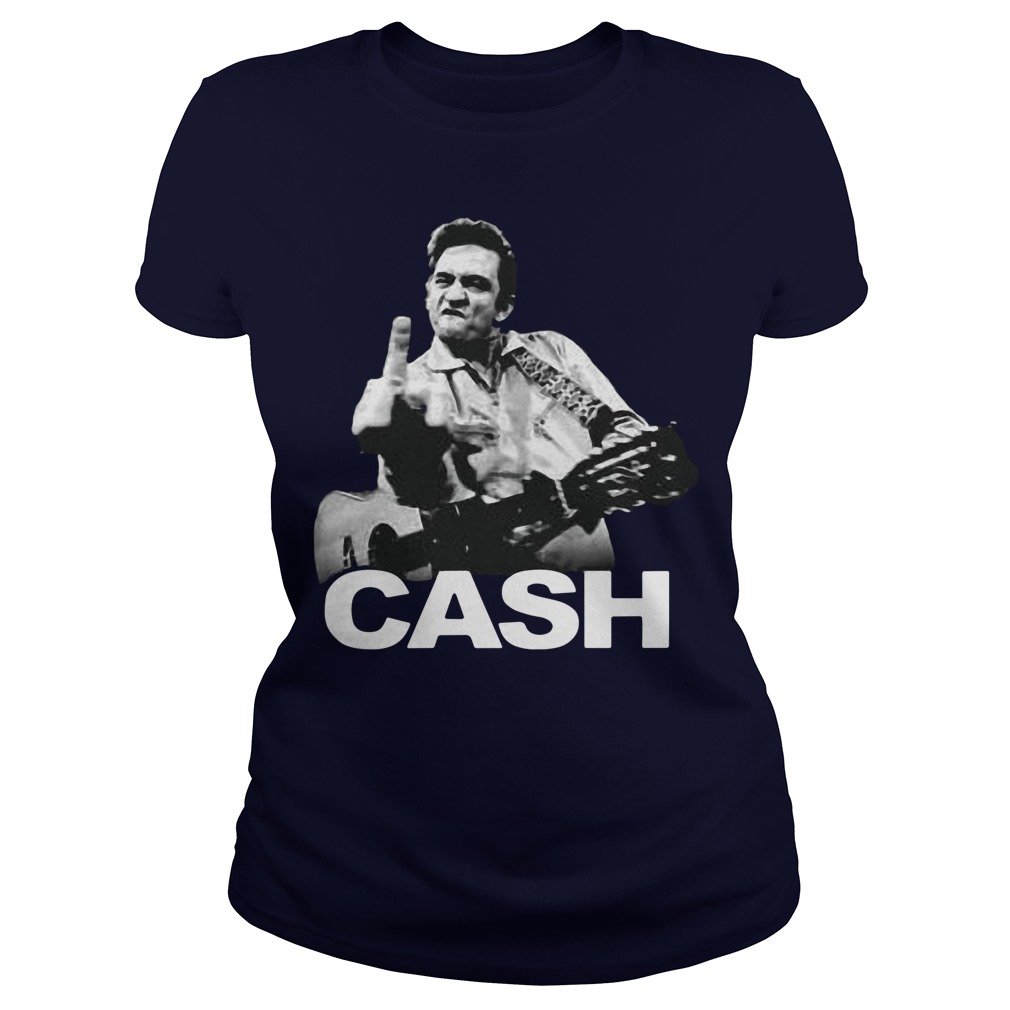 Johnny Cash Middle Finger Guitar Ladies