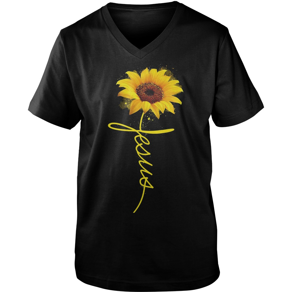 Official Wtc Sun Flower Jesus Guys V-Neck