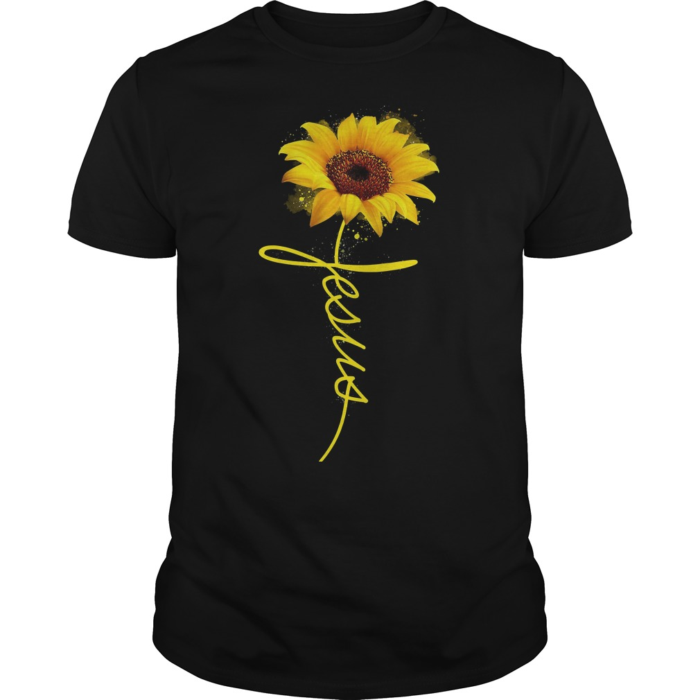 Official Wtc Sun Flower Jesus Guys Shirt