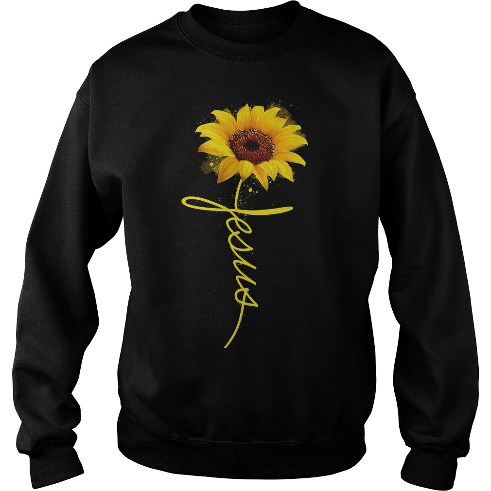 Official Wtc Sun Flower Jesus Sweater