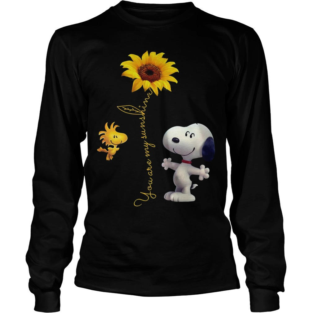Snoopy And Woodstock Sunflower You Are My Sunshine Longsleeve Tee