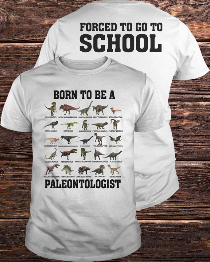 Official Dinosaurs Born To Be A Paleontologist Guys Tee
