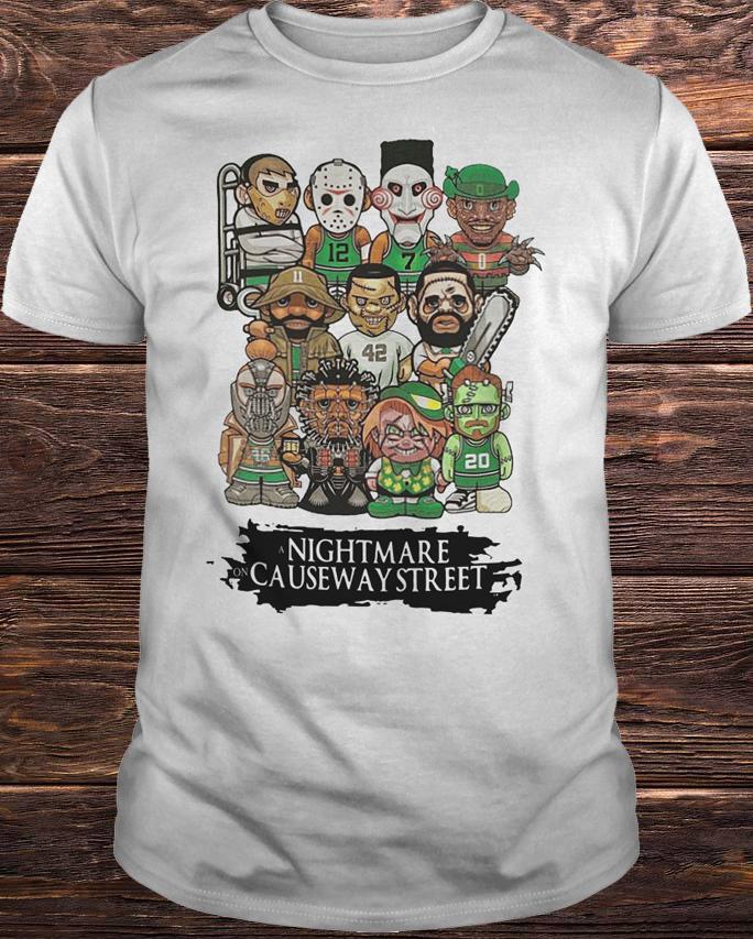 Boston Celtics Halloween Shirt: A Nightmare On Causeway Street Shirt