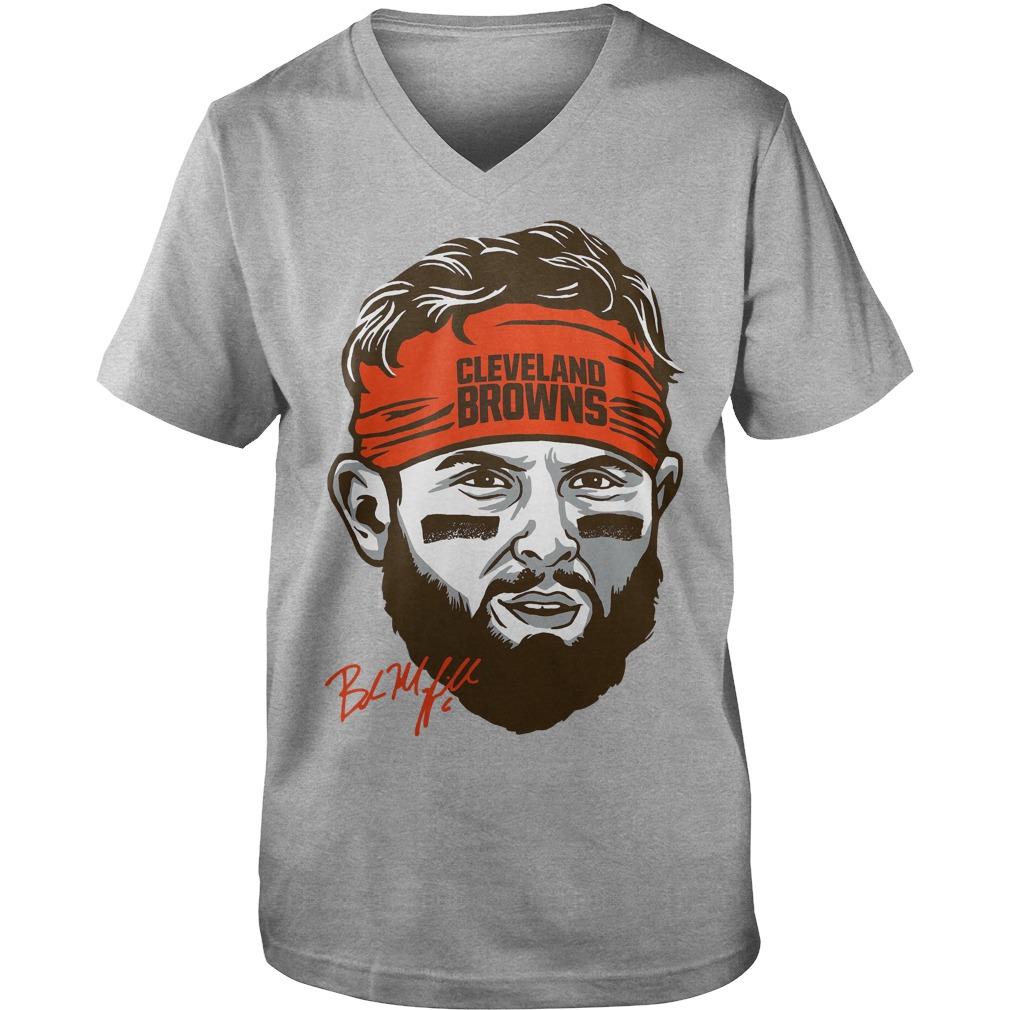 Cleveland Browns Baker Mayfield Headband Guys V-Neck