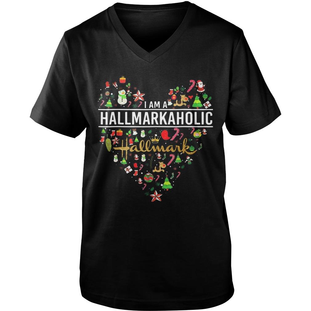 I'm A Hallmarkaholic Christmas Guys V-Neck