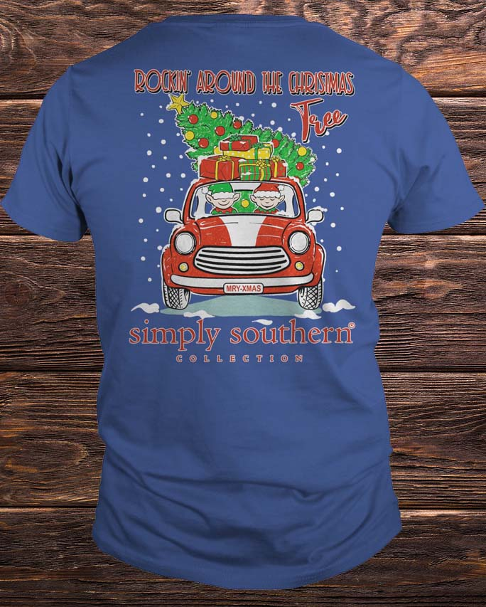 8fa4c176f Rockin Around The Christmas Tree Simply Southern Shirt
