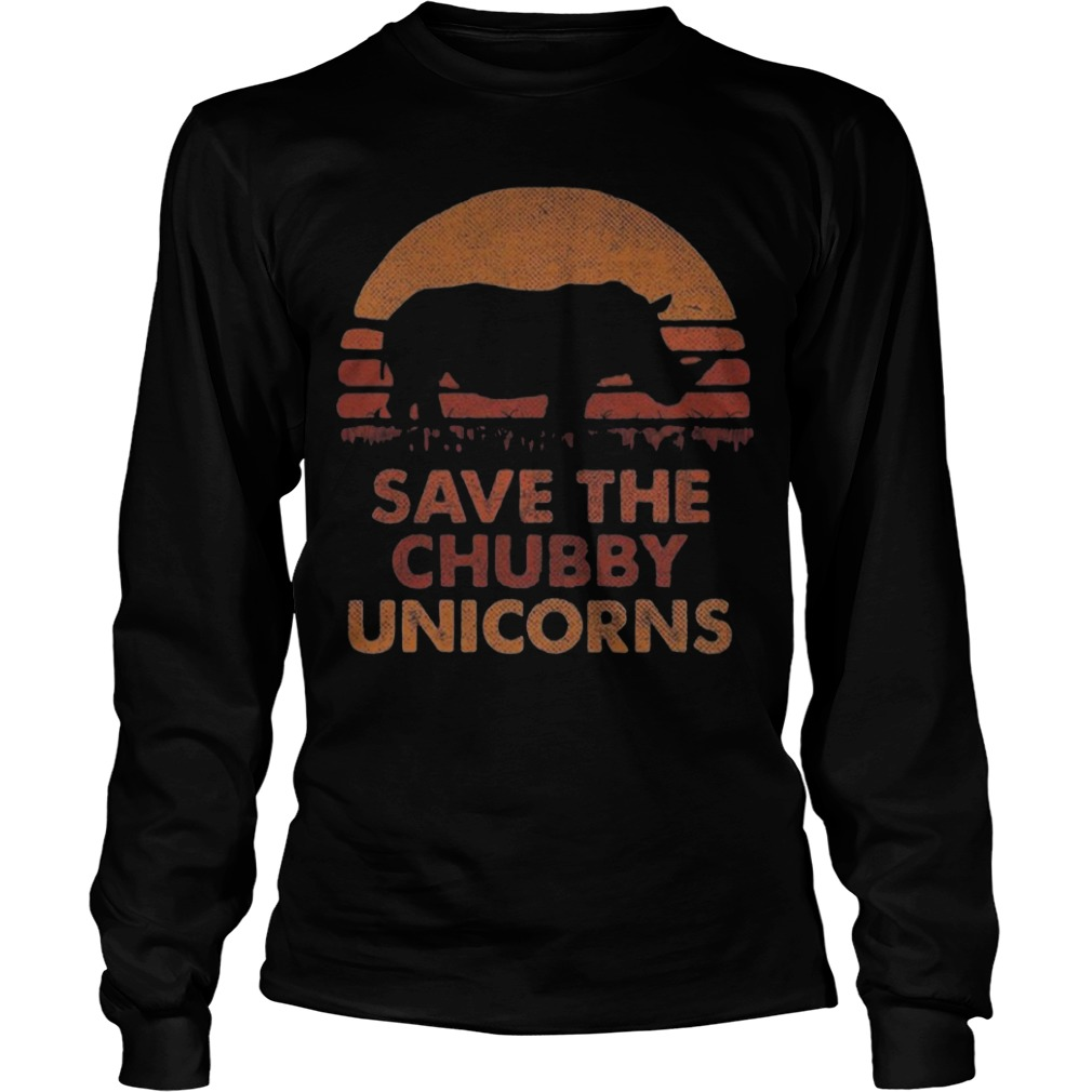 The Sunset Save The Chubby Unicorn Longsleeve Tee