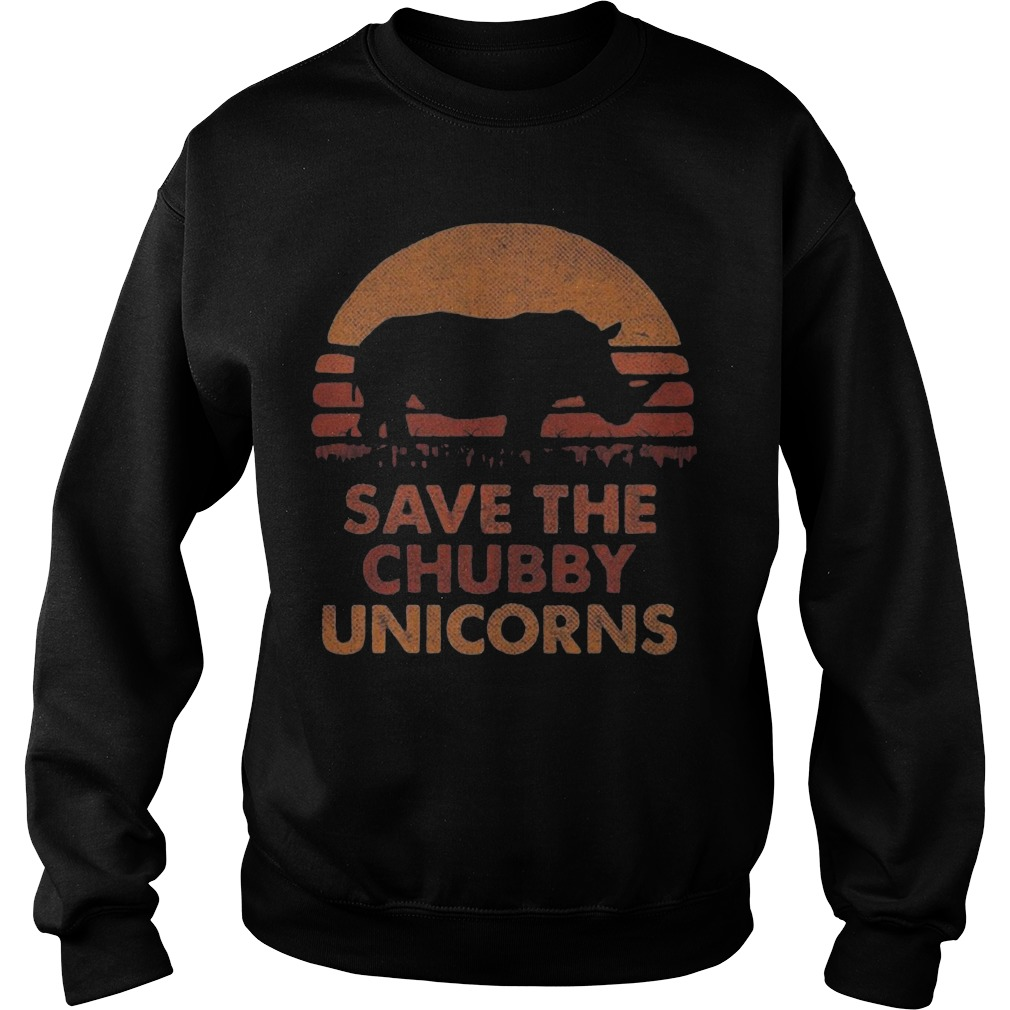 The Sunset Save The Chubby Unicorn Sweater