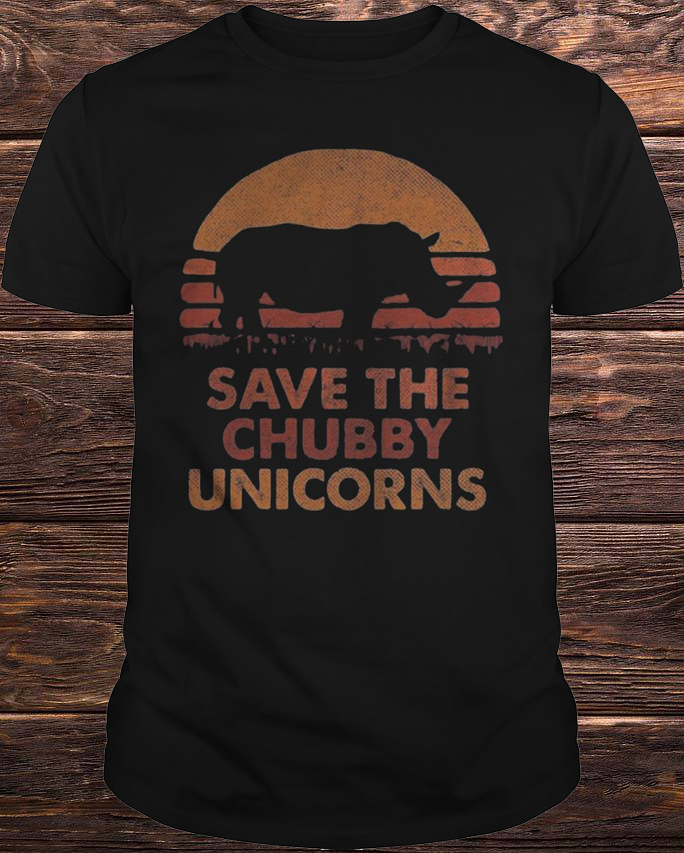The Sunset Save The Chubby Unicorn T Shirt
