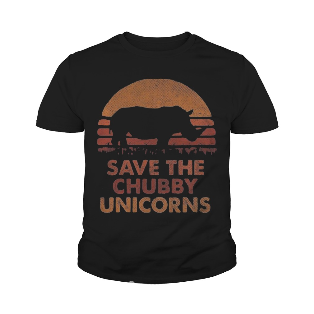 The Sunset Save The Chubby Unicorn Youth Tee