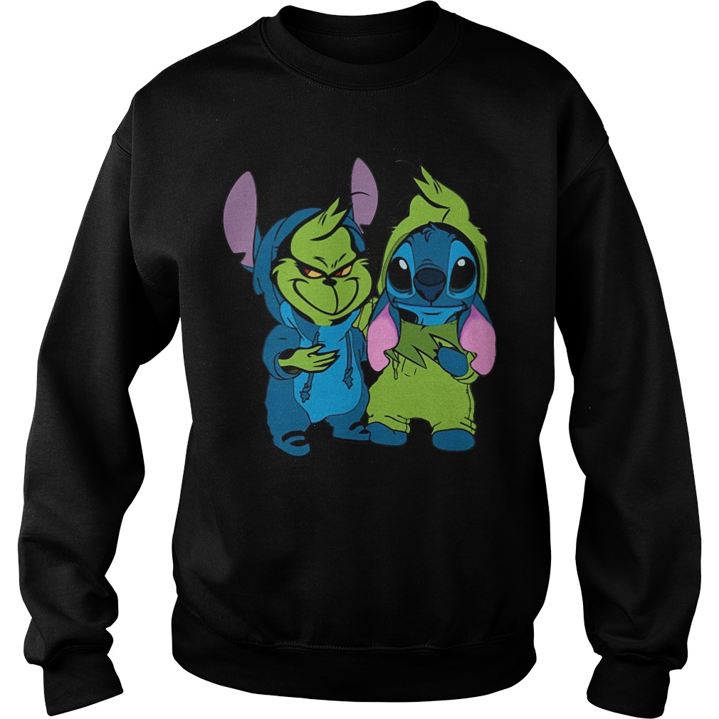 Baby Grinch And Stitch Sweater