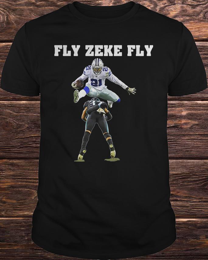 ac9bcd09555 Ezekiel Elliott Dallascowboys Fly Zeke Fly Shirt - Photoxtee