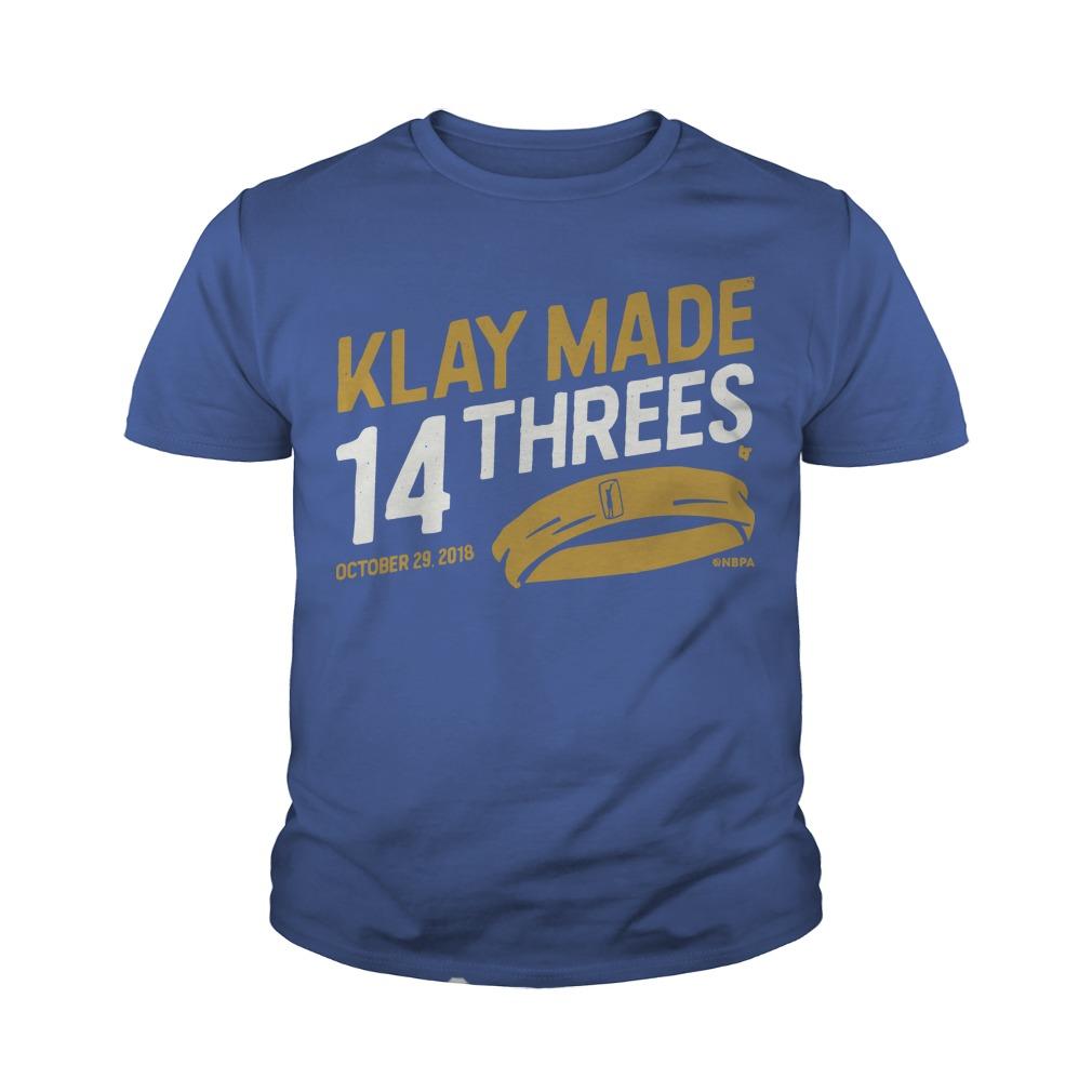 Klay Made 14 Threes Youth Tee