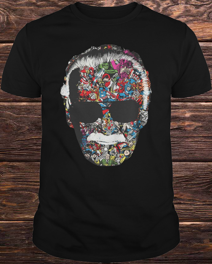 c7c68f94 Marvel Universe Comic Book Stan Lee Face Shirt, Hoodie, Tank Top And Sweater