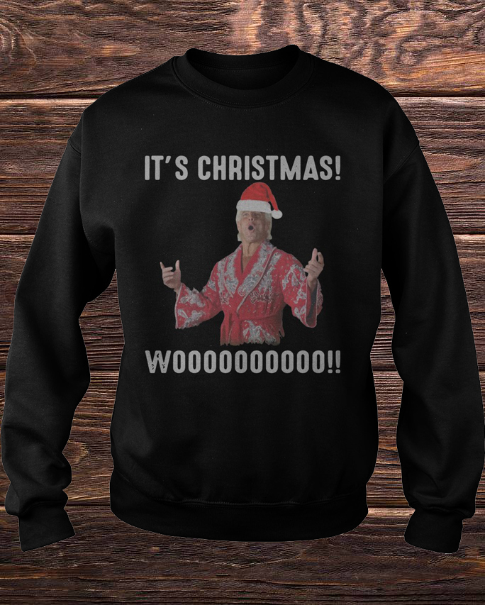 Official Ric Flair It's Christmas Wooo Sweater Shirt