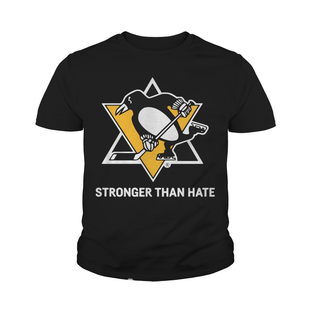 Pittsburgh Penguins Stronger Than Hate Youth Tee