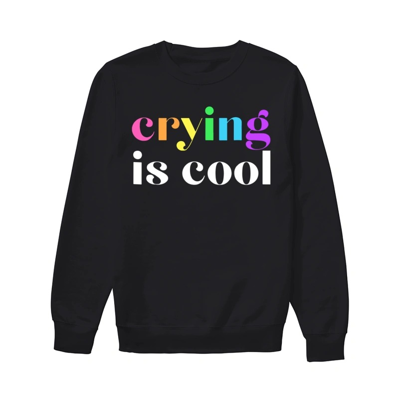 Anna Prosser Crying Is Cool Rainbow Sweater