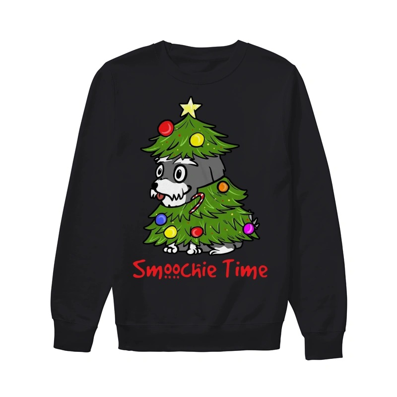 Cute Dog In Christmas Tree Smoochie Time Sweater