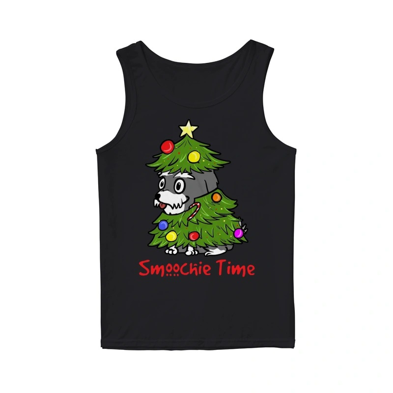 Cute Dog In Christmas Tree Smoochie Time Tank Top