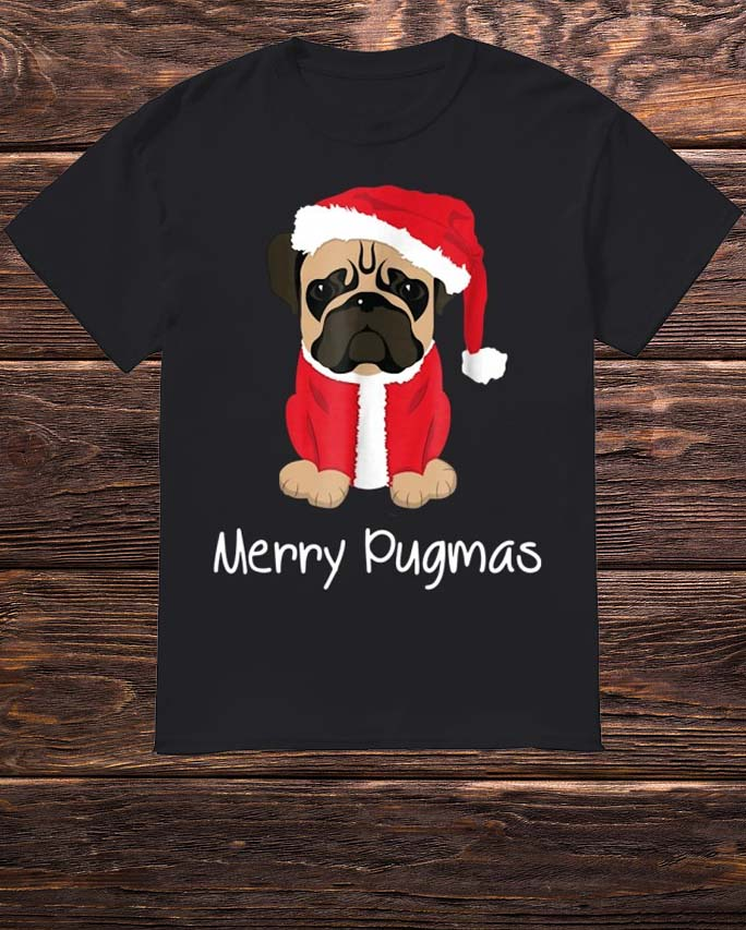 c2fd7e15 Merry Pugmas Cute Pug Face In Shirt, Hoodie, Tank Top And Sweater