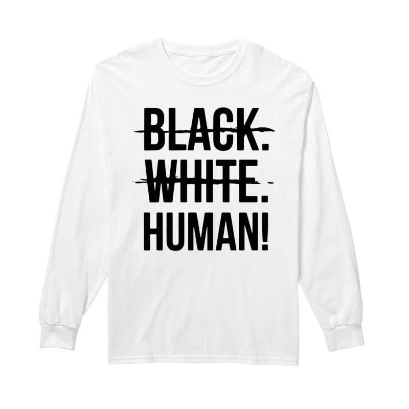 Mike Colter Black White Human Longsleeve Tee