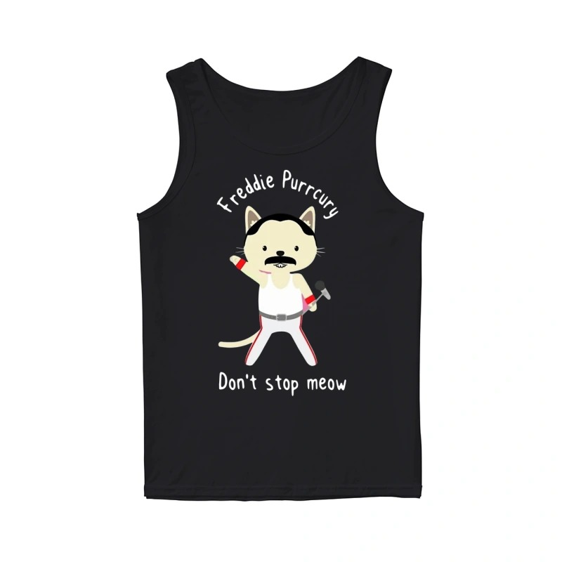Official Freddie Purrcury Don't Stop Meow Tank Top