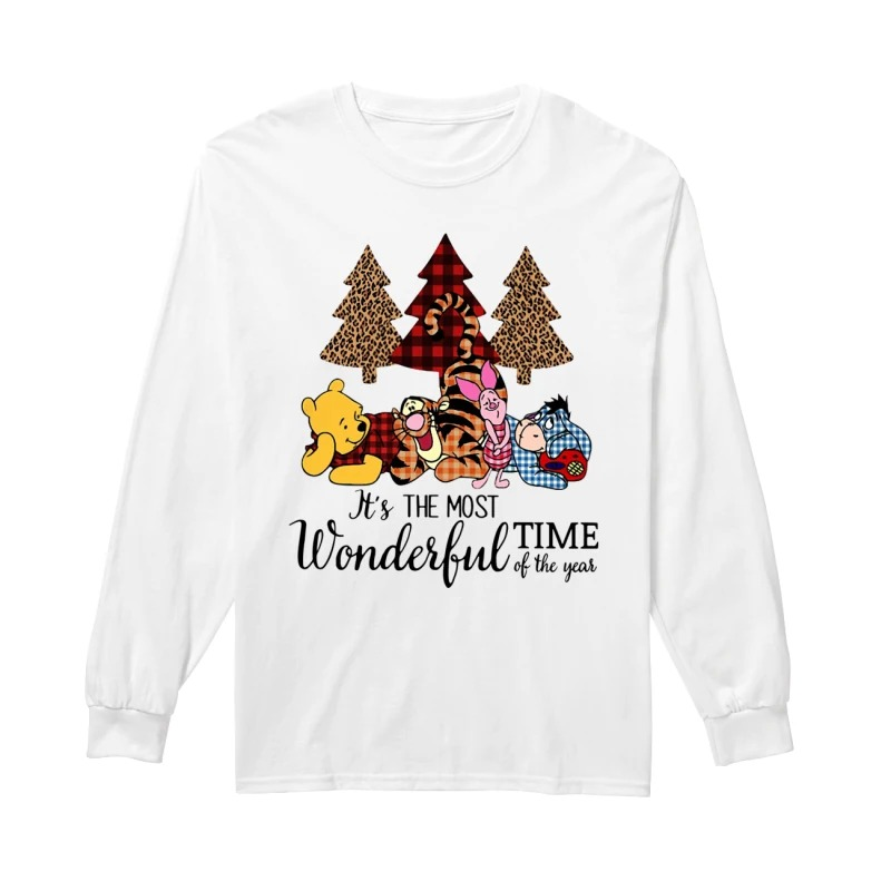 Official Winnie The Pooh It's The Most Wonderful Time Of The Year Longsleeve Tee