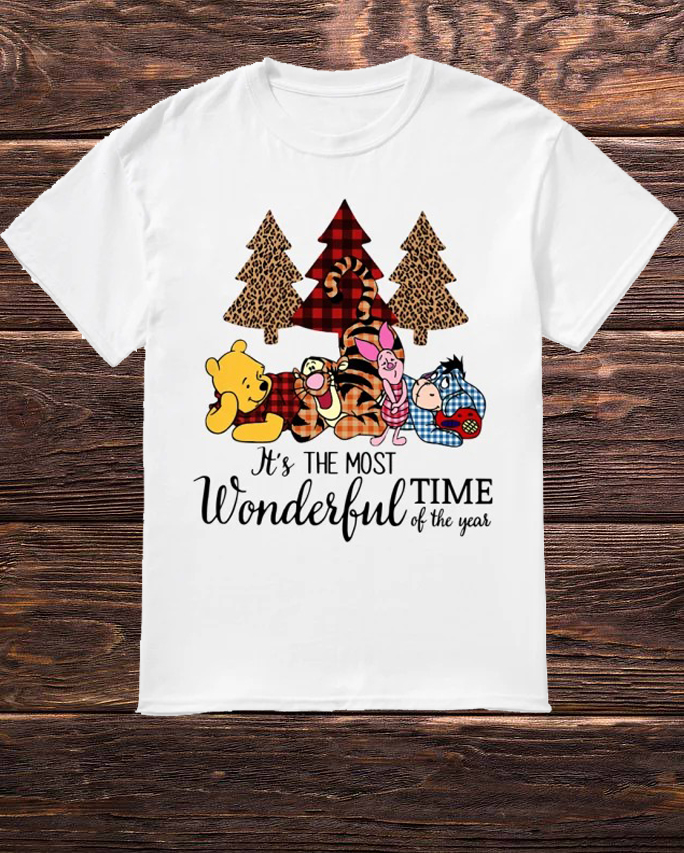 Official Winnie The Pooh It's The Most Wonderful Time Of The Year Shirt